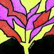 Tree - Stained Glass Watercolor Poster