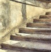Staircase At Pitti Palace Florence Pencil Poster