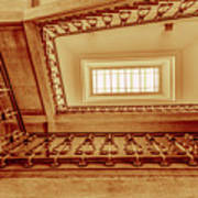 Staircase In Brown Poster