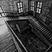 Stairs Black And White Poster