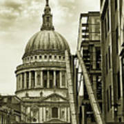 Stairs To St Pauls Poster