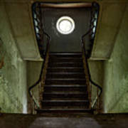 Stairs Toward The Attic - Abandoned House Poster