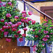Stairway Floral Plein Air Poster