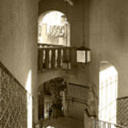 Stairway - In Sepia Poster