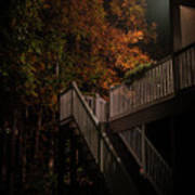 Stairway To Autumn Leaves Poster