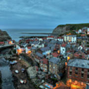 Staithes Evening Poster