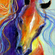 Stallion Horse Painting Poster