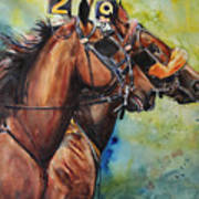 Standardbred Trotter Pacer Painting Poster