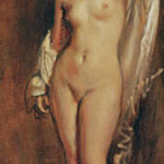 Standing Female Nude Poster
