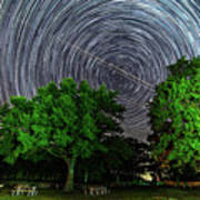 Star Trails At Sunken Meadow State Park Poster