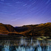 Star Trails Over Hauser Poster