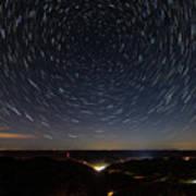 Star Trails Over Whitesburg Poster