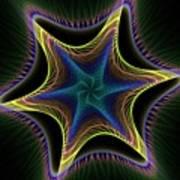 Star Twist Spiral Poster