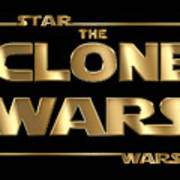 Star Wars The Clone Wars Typography Poster