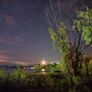 Starry Sky Over Lake Champlain New York Poster