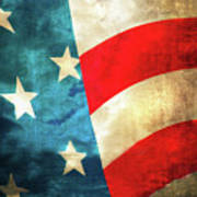 Stars And Stripes Curved Poster