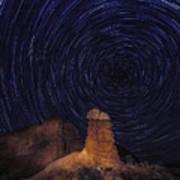 Stars Trails Poster