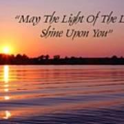 State Lake Sunset Poster