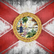 State Of Florida Flag Poster