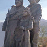 Statuary Dedicated To The American Indian Poster