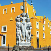 Statue And Yellow Theater Poster