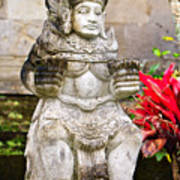 Statue At Pura Besakih Poster