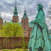 Statue At Rosenborg Castle Poster