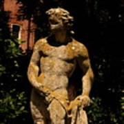 Statue In The Garden In Venice Poster