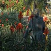 Statue In The Garden  Poster