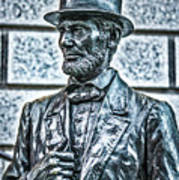 Statue Of Abraham Lincoln #7 Poster