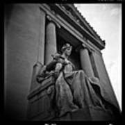 Statue Of Justice At The Courthouse In Memphis Tennessee Poster