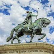 Statue Of King John I Lisbon Poster