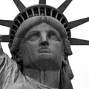 Statue Of Liberty B/w Poster by Lorena Mahoney