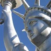 Statue Of Liberty Restaurant Courtyard Chandler Arizona 2005 Poster