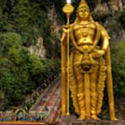 Statue Of Murugan Poster by Adrian Evans