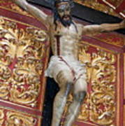 Statue Of The Crucifixion Inside The Catedral De Cordoba Poster