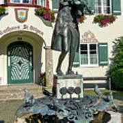 Statue Of Young Wolfgang Amadeus Mozart In St. Gilgen, Austria Poster