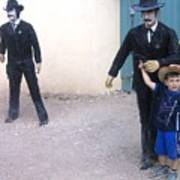 Statues Depicting Shooters In O.k. Corral Gunfight Tombstone Arizona 2004 Poster