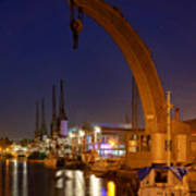 Steam Crane And Cranes, Bristol Harbour Poster