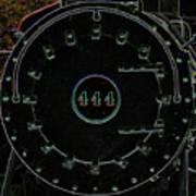Steam Engine 444 Poster