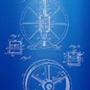 Steam Engine Blueprint Poster