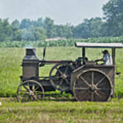 Steam Engine Plowing Poster