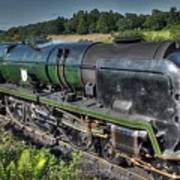 Steam Locomotive 34027 The Taw Valley Poster