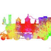 Steam Locomotive Art Poster