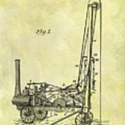 Steam Powered Oil Well Patent Poster