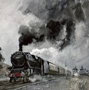 Steam Train At Garsdale - Cumbria Poster