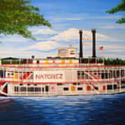 Steamboat On The Mississippi Poster