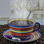 Steaming Coffee  Poster