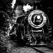 Steaming Through The Pass Poster
