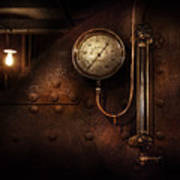 Steampunk - Boiler Gauge Poster by Mike Savad